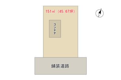 海 浜 売 地 館山市波左間 151㎡(45.67坪) 245万円 物件概略図