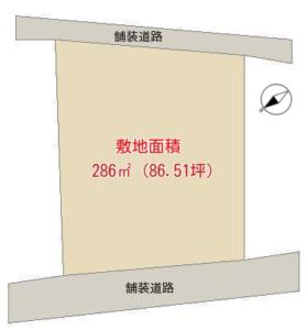 売 地 南房総市千倉町瀬戸 286.00㎡(86.51坪) 300万円 物件概略図