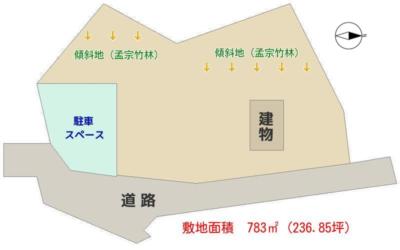 孟宗竹林付売家 南房総市山下 ワンルーム 485万円 物件概略図