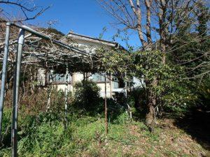 鴨川市の中古住宅 海が見える売家 南総ユニオン株式会社 菜園用地には棚がありました