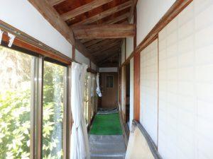 千葉県館山市の中古住宅 南房総の古民家 南総ユニオン株式会社 西側の廊下です