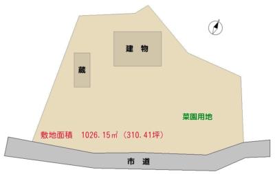 売古民家 館山市竹原(たけわら) 5DK+居住用蔵 一時中断 物件概略図