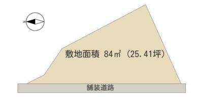 海 前 売 地 館山市布良 84㎡(25.41坪) 520万円 物件概略図