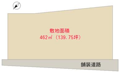 売 地 南房総市千倉町瀬戸 462㎡(139.75坪) 630万円 物件概略図