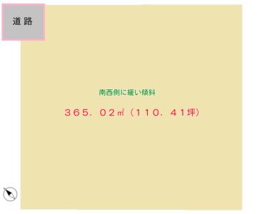 海 遠 望 売 地 館山市藤原 365.02㎡(110.41坪) 600万円 物件概略図