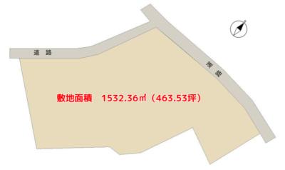 海 浜 売 地 南房総市千倉町白子 1532.36㎡(463.53坪) 2100万円 物件概略図
