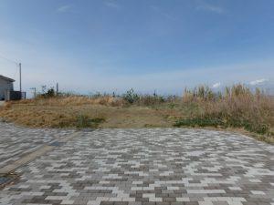 千葉県館山市加賀名の売地 館山ポピーランドの海一望売地 南総ユニオン株式会社 この先に海の眺望があります