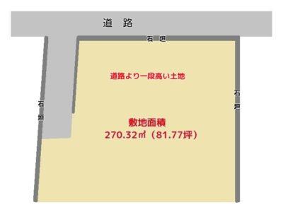 海 遠 望 売 地 鴨川市貝渚 270.32㎡(81.77坪) 885万円 物件概略図