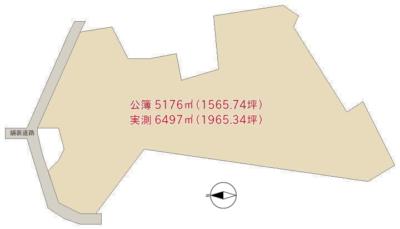 売 山 林 南房総市沓見 5176㎡(1565.74坪) 765万円 物件概略図