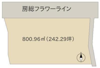 海 望 売 地 館山市坂田 800.96㎡(242.29坪) 1900万円 物件概略図