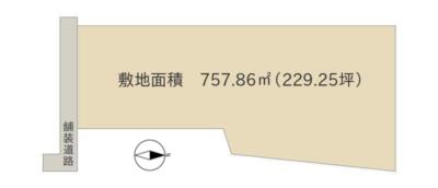 売 地 館山市館山 757.86㎡(229.25坪) 800万円 物件概略図