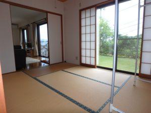 千葉県鴨川市の不動産 鴨川の別荘 南総ユニオン株式会社 玄関右手の和室です