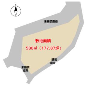 売 地 富津市押切 588㎡(177.87坪) 一時中断 物件概略図