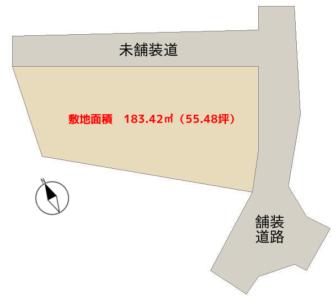 売 地 南房総市千倉町瀬戸 183.42㎡(55.48坪) 300万円 物件概略図