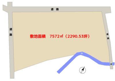 海 浜 売 地 館山市藤原 7572㎡(2290.53坪) 5800万円 物件概略図