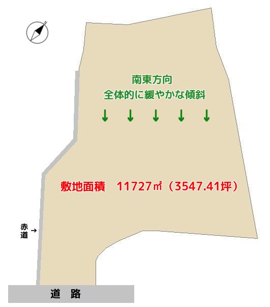千葉県君津市愛宕の売山林 君津市の土地 君津地の不動産情報 敷地概略図