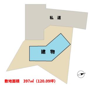 売ログハウス 館山市岡田 4LK 1050万円 物件概略図