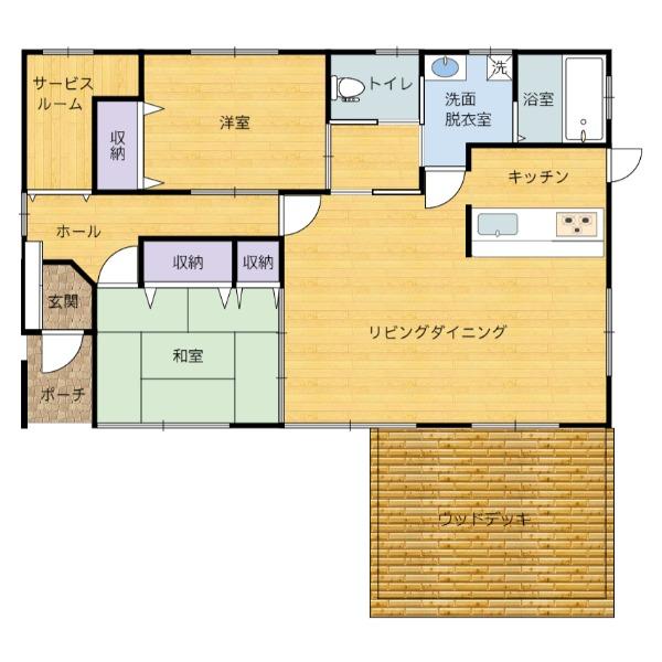 千葉県鴨川市貝渚の中古物件 別荘間取り図