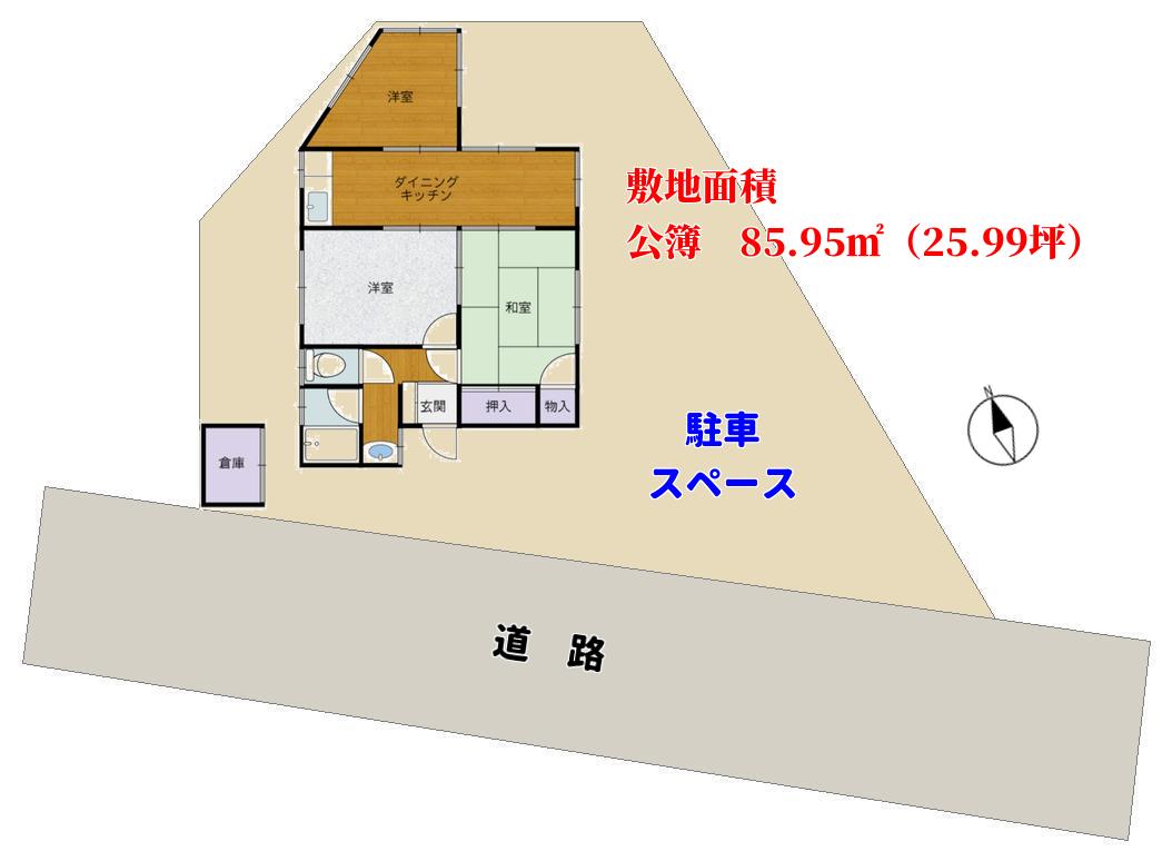 千葉県館山市波左間の海が見える物件の物件敷地図 南総ユニオン株式会社