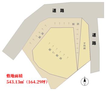 海一望売地 館山市加賀名 543.13㎡(164.29坪) 500万円 物件概略図