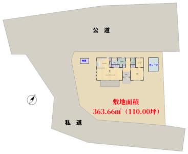 築浅売家 南房総市富浦町福沢 1SLDK 2380万円 物件概略図