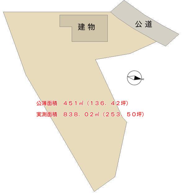 千葉県鴨川市貝渚の中古戸建 物件の敷地図 南総ユニオン株式会社