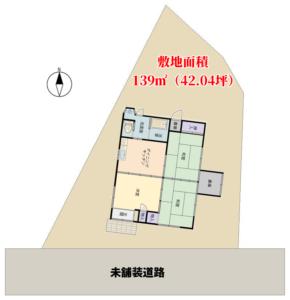 海近売家 富津市萩生(はぎう) 3DK 450万円 物件概略図