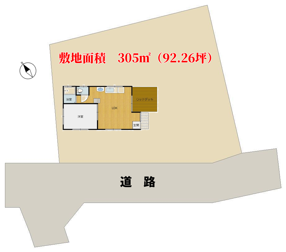 千葉県館山市神余の中古別荘 敷地図 南総ユニオン株式会社