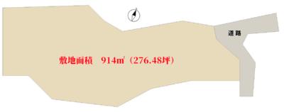 売地 館山市見物 914㎡(276.48坪) 828万円 物件概略図