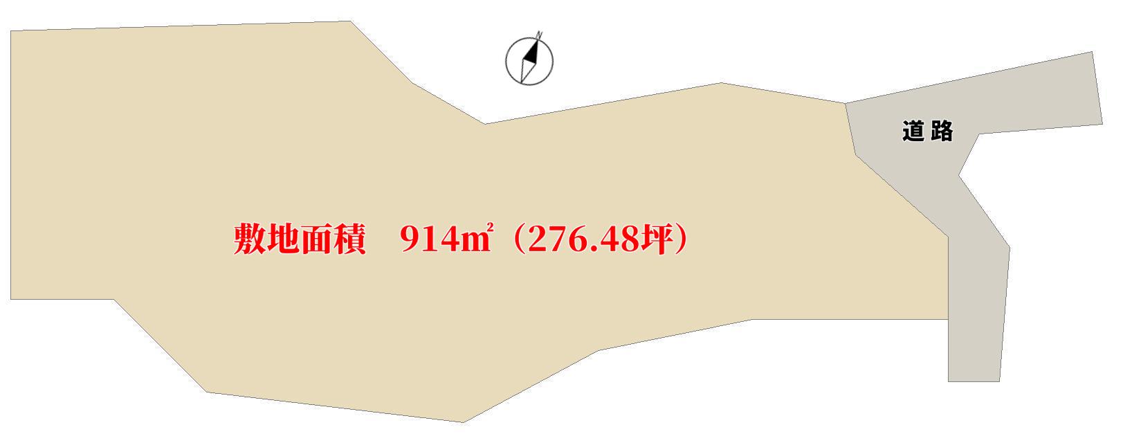 館山市見物の土地 物件敷地図