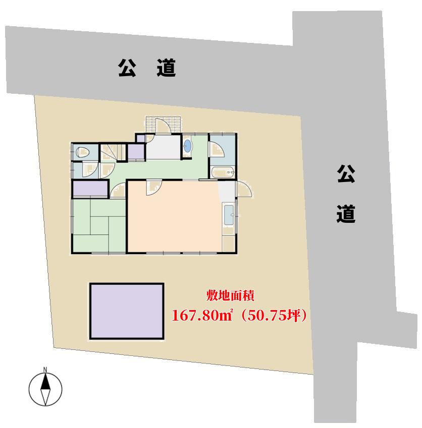 館山市北条の物件敷地図