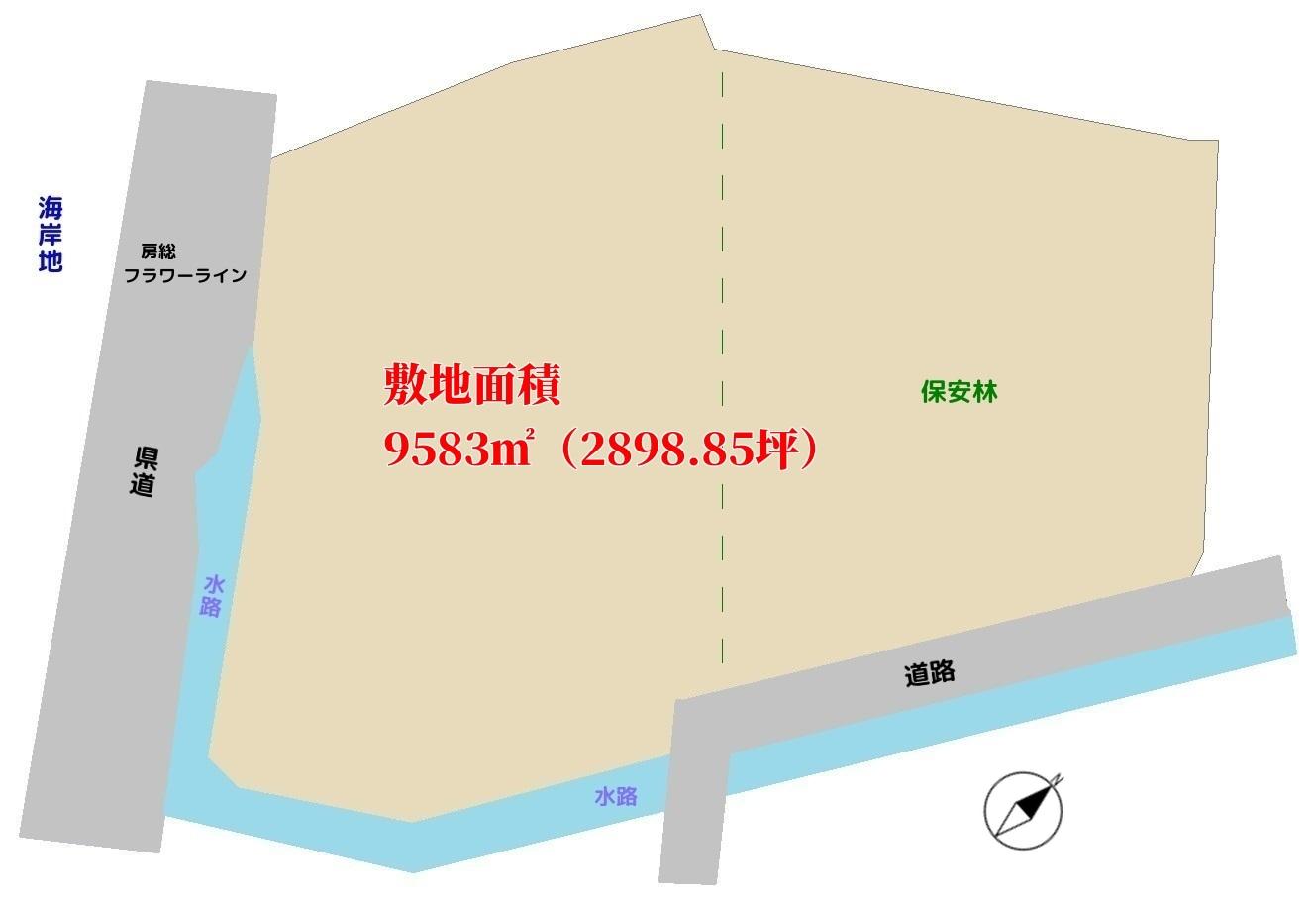 千葉県館山市佐野の売地 海が見える土地 広い土地 南総ユニオン株式会社