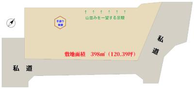 売地 館山市岡田 398㎡(120.39坪) 680万円 物件概略図