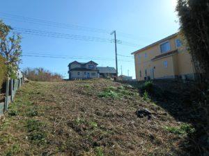 千葉県館山市佐野の土地 別荘用地 南房総の土地 北側か見てかなり広い土地だな