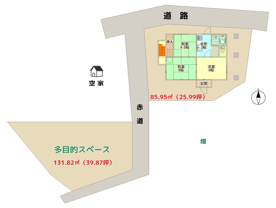 南房総市高崎の中古物件敷地概略 南総ユニオン株式会社