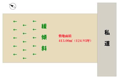 売地 館山市佐野 413.00㎡(124.93坪) 380万円 物件概略図
