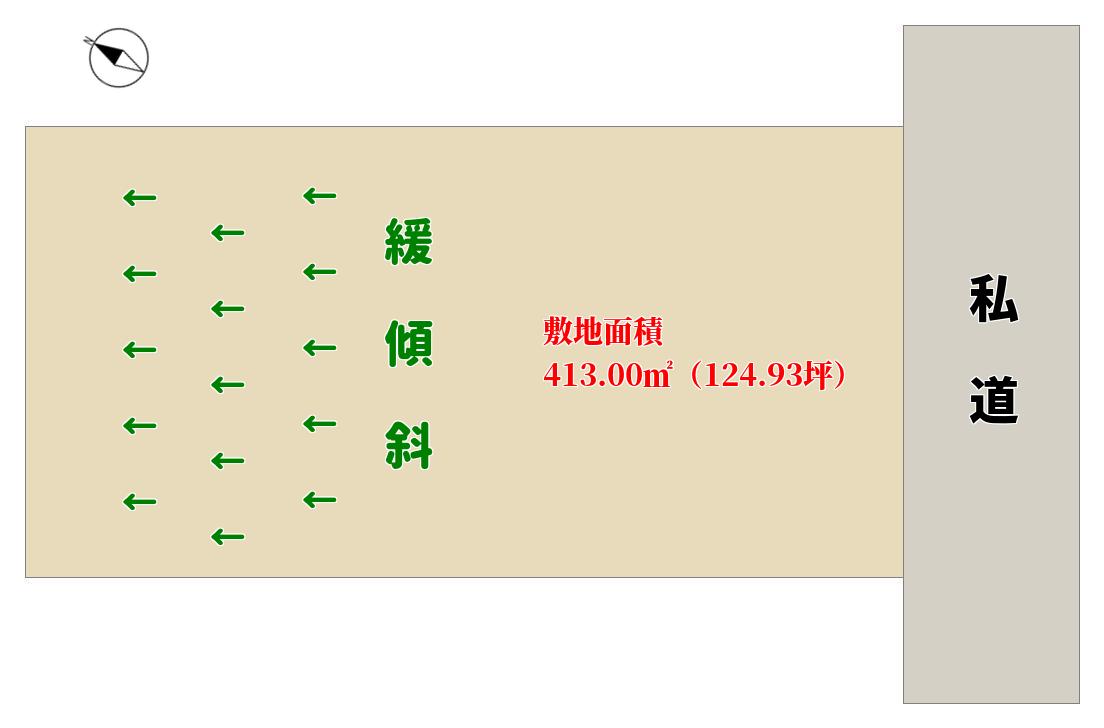 千葉県館山市佐野の売り土地 物件概略図