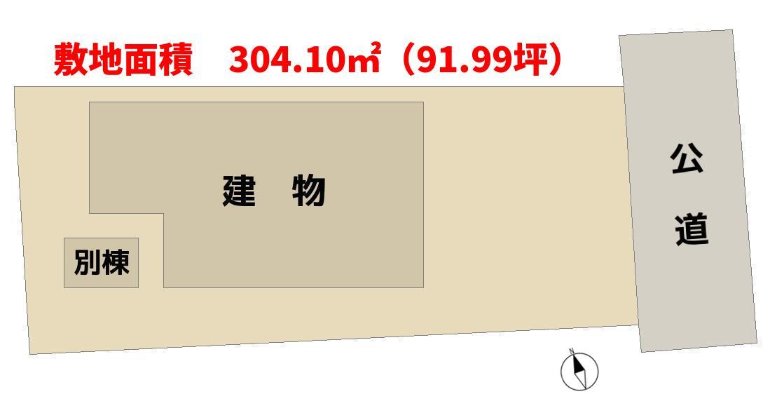 千葉県南房総市千倉町の中古戸建 物件敷地概略