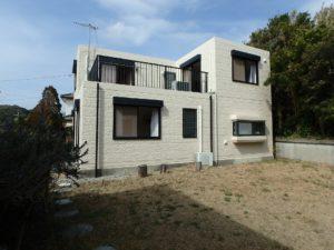 千葉県館山市布沼の中古住宅 南房総の別荘 戸建て 2階から海遠望する物件です