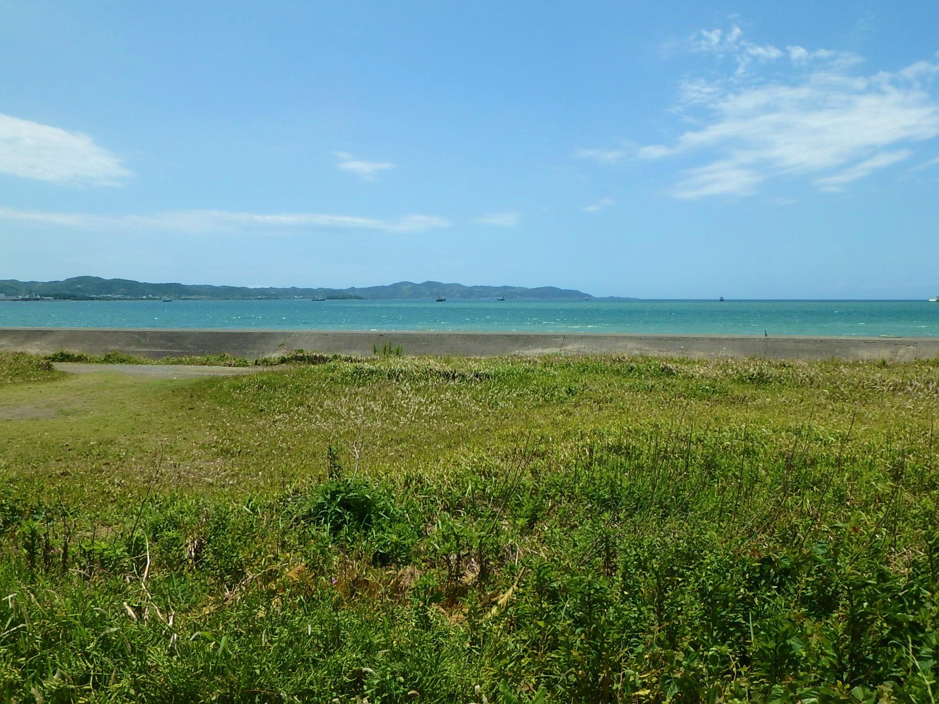 千葉県館山市正木の海沿い土地、海一望の物件 ご商談中