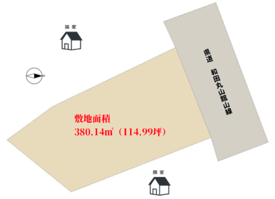 売地 千葉県南房総市本織 380.14㎡(114.99坪) 680万円 物件概略図