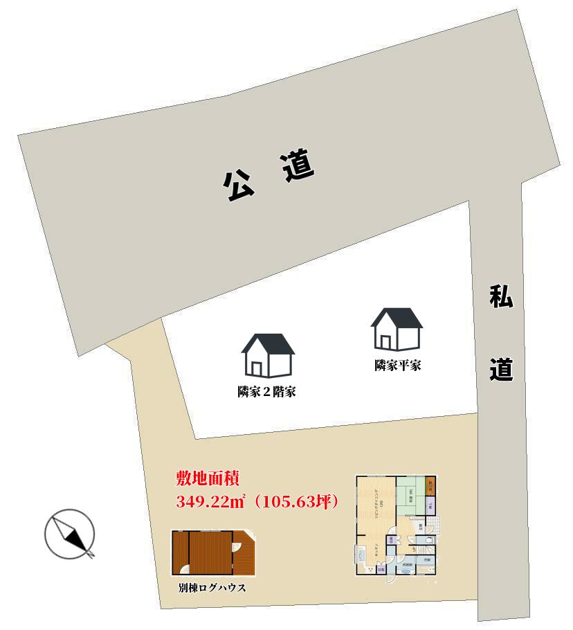 千葉県館山市布沼の物件敷地図