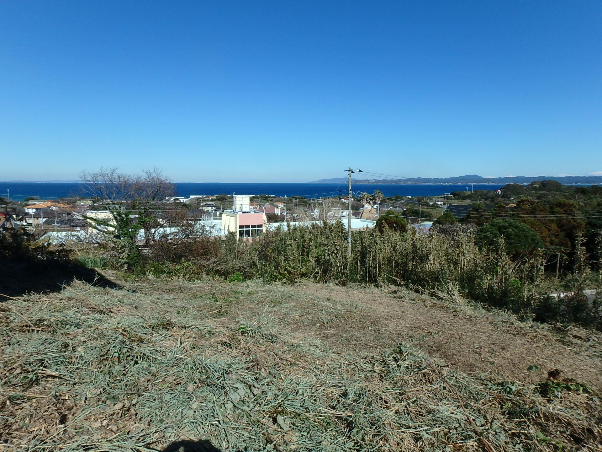 千葉県館山市加賀名、ポピーランドの海一望売地 房総の別荘用地