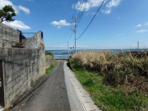 千葉県いすみ市岩船の海が見える売地 広い敷地 房総の別荘用地 振り返り海との距離感