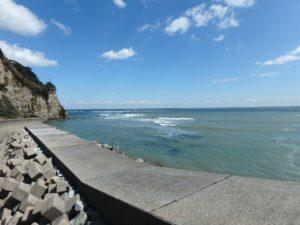 千葉県いすみ市岩船の海が見える売地 広い敷地 房総の別荘用地 普段は静かな海です