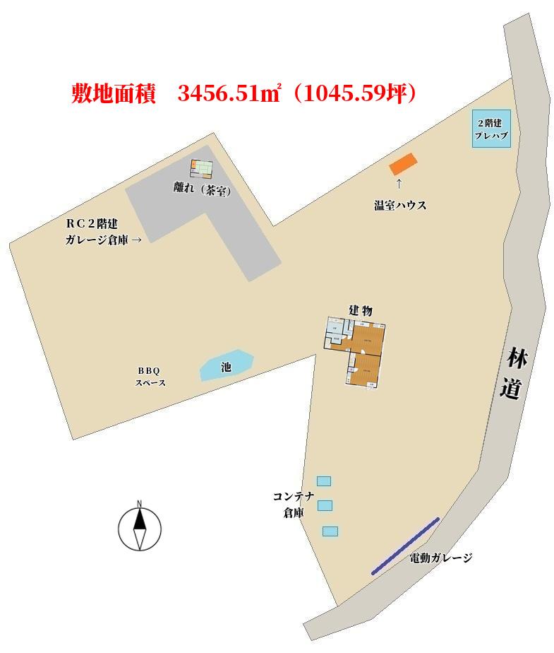 千葉県南房総市千倉町川戸の物件敷地図