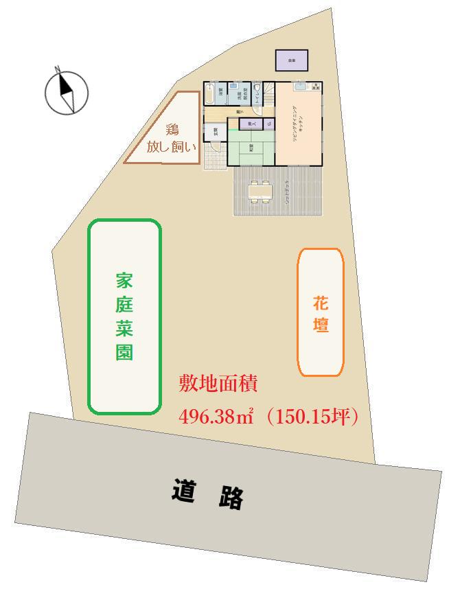 千葉県南房総市和田町中三原の田舎暮らし、敷地図