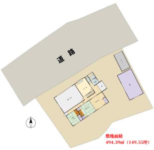 店舗付売家 南房総市上滝田 5DK+店舗 1250万円 物件概略図