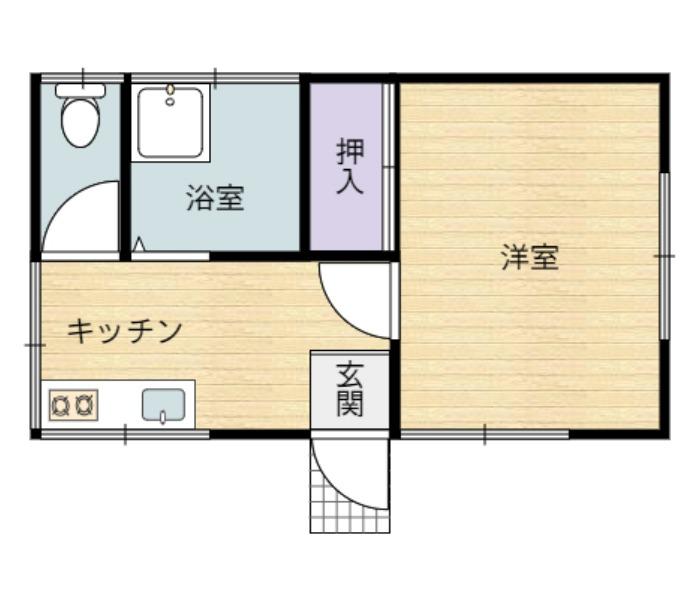 千葉県館山市佐野の間取り図  中古住宅