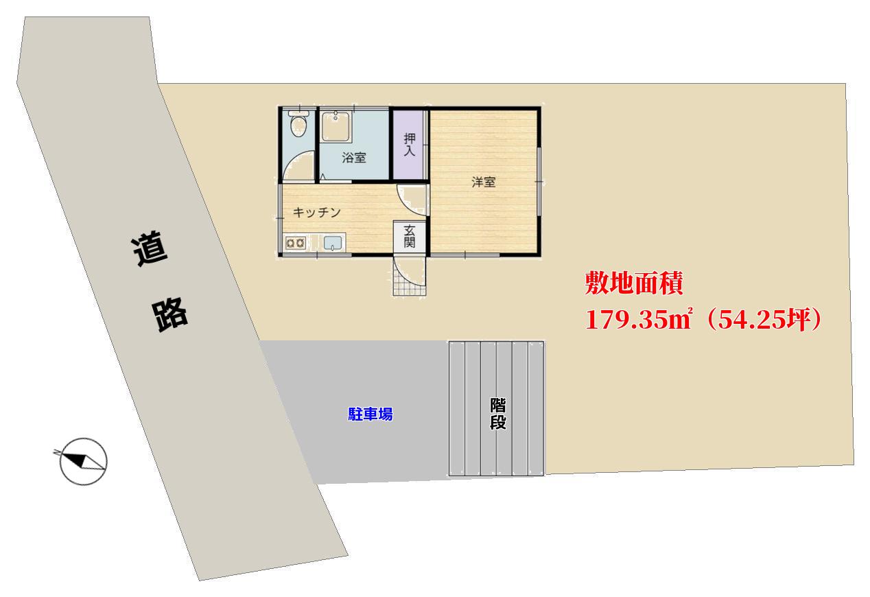 千葉県館山市佐野の物件敷地図 房総の中古別荘